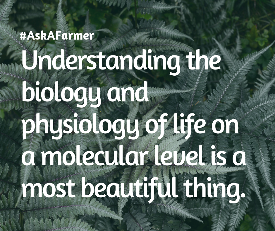 Understanding the biology, physiology, and life on a molecular level is a most beautiful thing. (2)